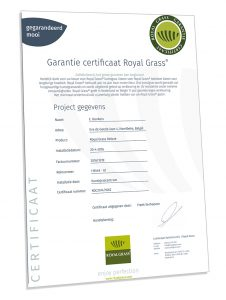 Royal Grass® certificaat