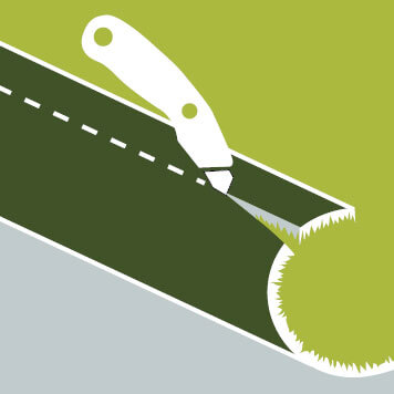 cut artificial grass to size
